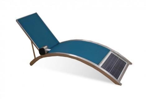 Tumbonas de masaje por energía solar